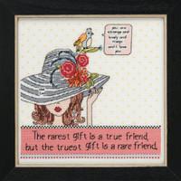 Rarest Friend Beaded Cross Stitch Kit Curly Girl 2019 Mill Hill CG301911
