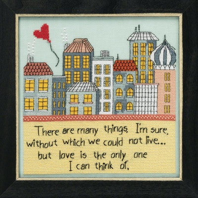 Love is the Only One Beaded Cross Stitch Kit Curly Girl 2019 Mill Hill CG301914