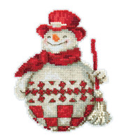 Nordic Snowman Cross Stitch Kit Mill Hill 2019 Jim Shore JS201916