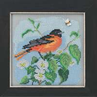 Baltimore Oriole Cross Stitch Kit Mill Hill 2020 Buttons & Beads Spring MH142012