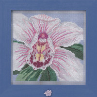 White Orchid Cross Stitch Kit Mill Hill 2020 Buttons & Beads Spring MH142014