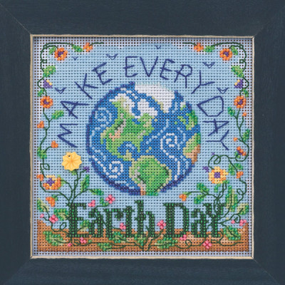 Earth Day Cross Stitch Kit Mill Hill 2020 Buttons & Beads Spring MH142015