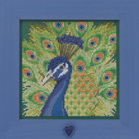 Proud Peacock Cross Stitch Kit Mill Hill 2020 Buttons & Beads Spring MH142016