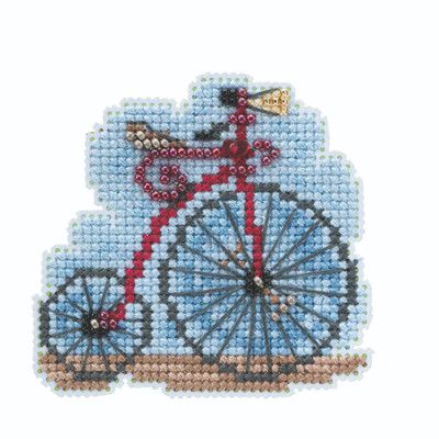 Vintage Bicycle Beaded Cross Stitch Kit Mill Hill 2020 Spring Bouquet MH182011