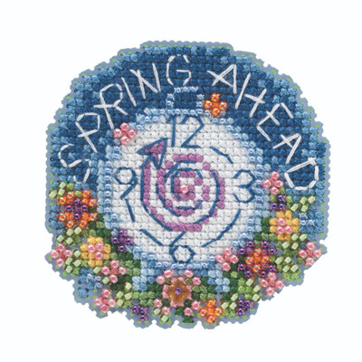 Spring Ahead Beaded Cross Stitch Kit Mill Hill 2020 Spring Bouquet MH182013