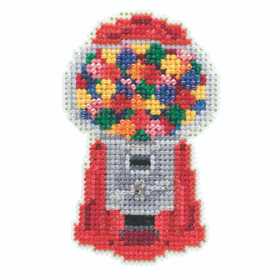 Gumball Machine Beaded Cross Stitch Kit Mill Hill 2020 Spring Bouquet MH182014