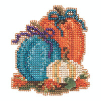 Pumpkin Trio Beaded Cross Stitch Kit Mill Hill 2020 Autumn Harvest MH182026