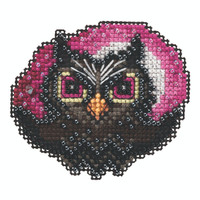 Moonlit Owl Beaded Cross Stitch Kit Mill Hill 2020 Autumn Harvest MH182023