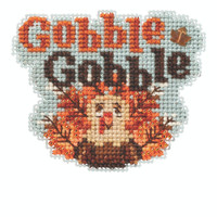 Gobble Gobble Beaded Cross Stitch Kit Mill Hill 2020 Autumn Harvest MH182022