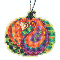 Persian Pumpkin Beaded Counted Cross Stitch Kit Mill Hill 2020 Ornament MH162026