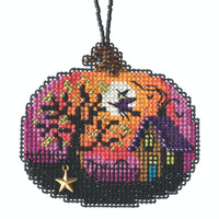 Bewitching Pumpkin Beaded Counted Cross Stitch Kit Mill Hill 2020 Ornament MH162024