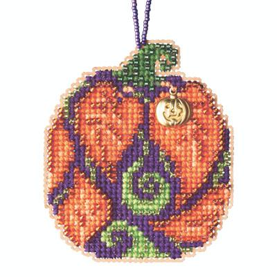 Autumn Pumpkin Beaded Counted Cross Stitch Kit Mill Hill 2020 Ornament MH162021