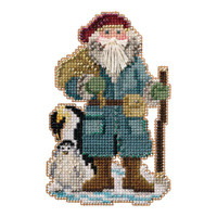 Penguin Santa Cross Stitch Ornament Kit Mill Hill 2020 Antarctic Santas MH202031