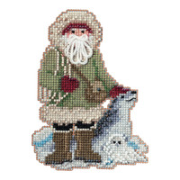 Leopard Seal Santa Cross Stitch Ornament Kit Mill Hill 2020 Antarctic Santa MH202032