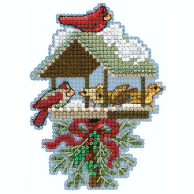 Winter Feast Cross Stitch Ornament Kit Mill Hill 2020 Winter Holiday MH182032
