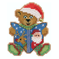 Teddy's Tale Cross Stitch Ornament Kit Mill Hill 2020 Winter Holiday MH182036