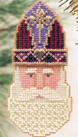 St Nicholas Beaded Ornament Kit Mill Hill 1999 Charmed Santa Faces