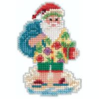 Santa Cruise Cross Stitch Ornament Kit Mill Hill 2020 Winter Holiday MH182034