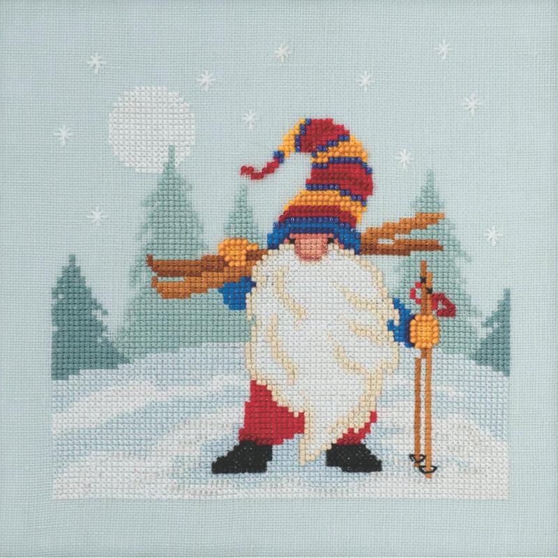 Hiking Gnome Cross Stitch Kit Mill Hill 2020 Gnome Quartet MH172014