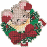 Patsy Pine Cross Stitch Ornament Kit Mill Hill 2020 Mouse Trilogy MH192011