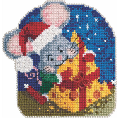 Mac Cheese Cross Stitch Ornament Kit Mill Hill 2020 Mouse Trilogy MH192012