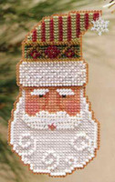 Santa Claus 1999 Bead Ornament Kit Mill Hill 1999 Charmed Santa Faces
