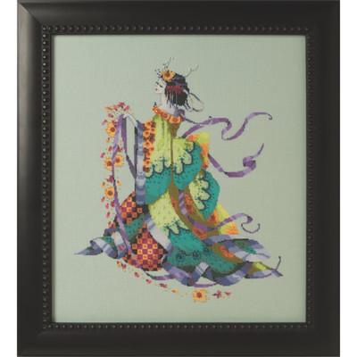 Miss Dancing Flower Kit Cross Stitch Chart Beads Silk Floss MD170 Mirabilia Nora Corbett