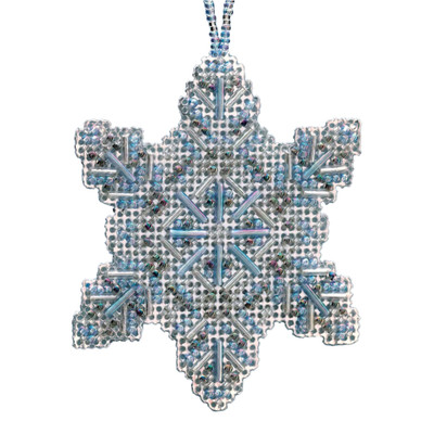 Crystal Snowflake Beaded Cross Stitch Ornament Kit Mill Hill 2020 Beaded Holiday MH212011