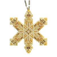 Victorian Snowflake Beaded Cross Stitch Ornament Kit Mill Hill 2020 Beaded Holiday MH212014