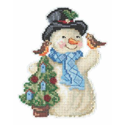 Feathered Friends Snowman Cross Stitch Kit Mill Hill 2020 Jim Shore JS202012