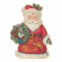 Winter Wishes Santa Cross Stitch Kit Mill Hill 2020 Jim Shore JS202014