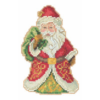 Gift Bearing Santa Cross Stitch Kit Mill Hill 2020 Jim Shore JS202015