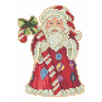 Candy Cane Santa Cross Stitch Kit Mill Hill 2020 Jim Shore JS202016