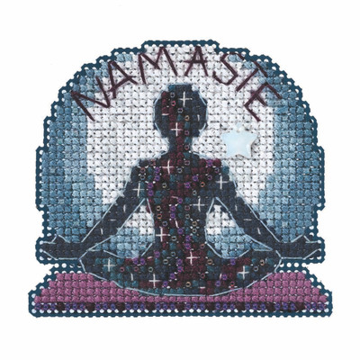 Namaste Beaded Cross Stitch Kit Mill Hill 2021 Spring Bouquet MH182116