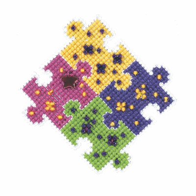 Puzzled Beaded Cross Stitch Kit Mill Hill 2021 Spring Bouquet MH182112