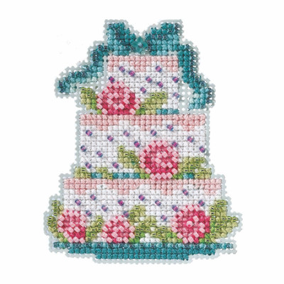 Frosted Cake Beaded Cross Stitch Kit Mill Hill 2021 Spring Bouquet MH182111