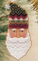 Kris Kringle 1999 Bead Ornament Kit Mill Hill 1999 Charmed Santa Faces