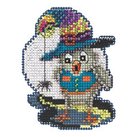 Halloween Owl Beaded Cross Stitch Kit Mill Hill 2021 Autumn Harvest MH182126