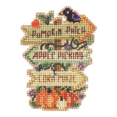 Fall Fun Beaded Cross Stitch Kit Mill Hill 2021 Autumn Harvest MH182125