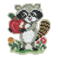 Rosie Raccoon Beaded Cross Stitch Kit Mill Hill 2021 Autumn Harvest MH182122