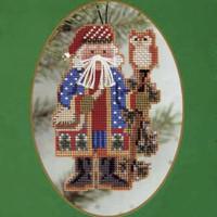 Juniper Branch Santa Bead Kit Mill Hill 1999 Northwoods Santas