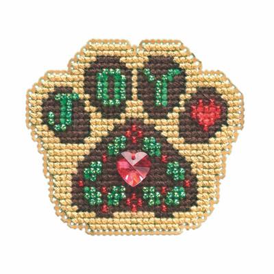 Santa Paws Cross Stitch Ornament Kit Mill Hill 2021 Winter Holiday MH182135