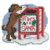 Letters to Santa Cross Stitch Ornament Kit Mill Hill 2021 Winter Holiday MH182134