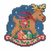 Rocking Reindeer Cross Stitch Ornament Kit Mill Hill 2021 Winter Holiday MH182131