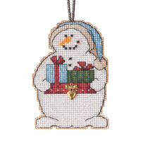 Giving Snowman Beaded Counted Cross Stitch Kit Mill Hill 2021 Charmed Ornament MH162136