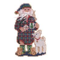 Christmas Morning Santa Cross Stitch Kit Mill Hill 2021 Santas OrnamentMH202131