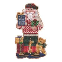 Christmas Giving Santa Cross Stitch Kit Mill Hill 2021 Santas Ornament MH202132