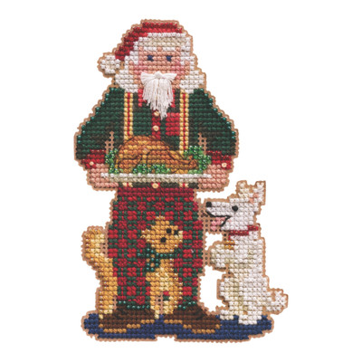 Christmas Memories Santa Cross Stitch Kit Mill Hill 2021 Santas Ornament MH202133