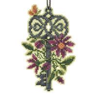 Spring Key Cross Stitch Ornament Kit Mill Hill 2021 Antique Keys Trilogy MH192111
