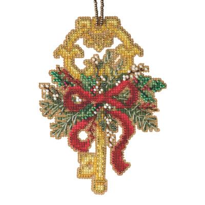 Winter Key Cross Stitch Ornament Kit Mill Hill 2021 Antique Keys Trilogy MH192113